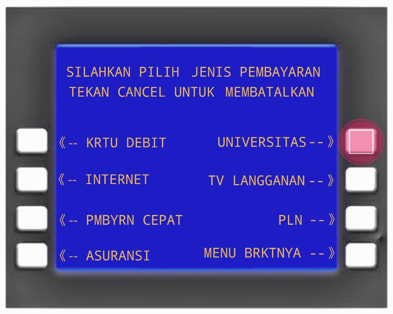 Petunjuk Pembayaran Yayasan Sasmita Jaya Via Atm Bni