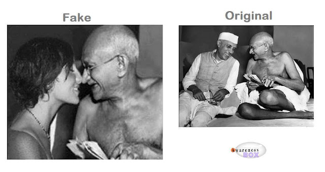 gandhiji-fake-kissing-photo