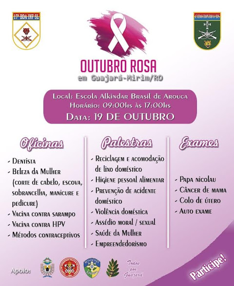 6º BIS realizará sábado, 19, programação em alusão ao Outubro Rosa