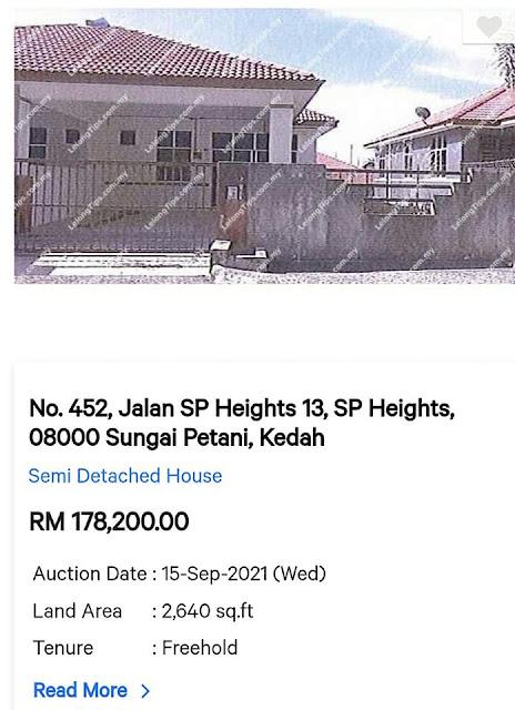 Rumah Semi D harga RM178 ribu