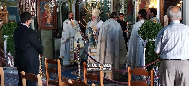 Αρχιερατική Θεία Λειτουργία στη Νέα Τίρυνθα για την Τιμία Ζώνη της Θεοτόκου