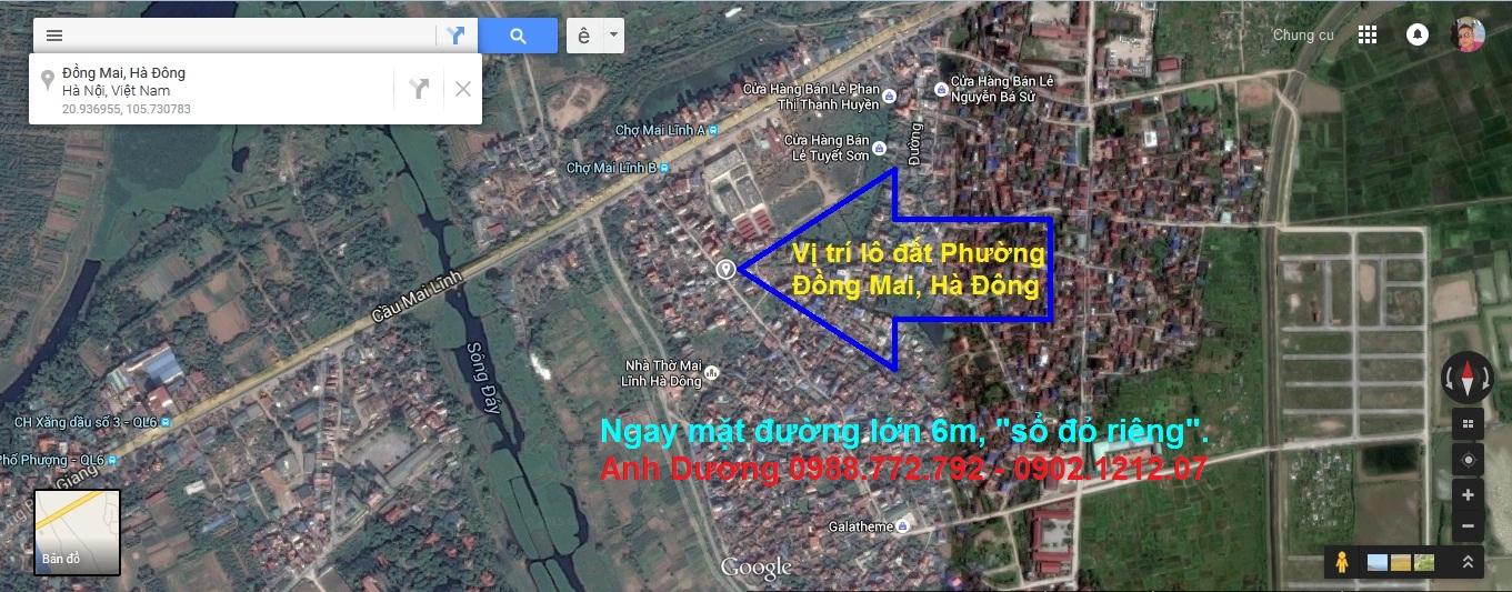 Vị trí thực tế lô đất thổ cư Đồng Mai giá rẻ Sổ Đỏ Riêng tại tổ 4 Phường Đồng Mai, Mai Lĩnh, Hà Đông, HN