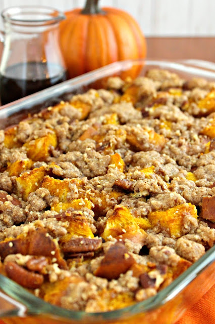 Pumpkin Pecan French Toast Casserole from LoveandConfections.com #sponsored