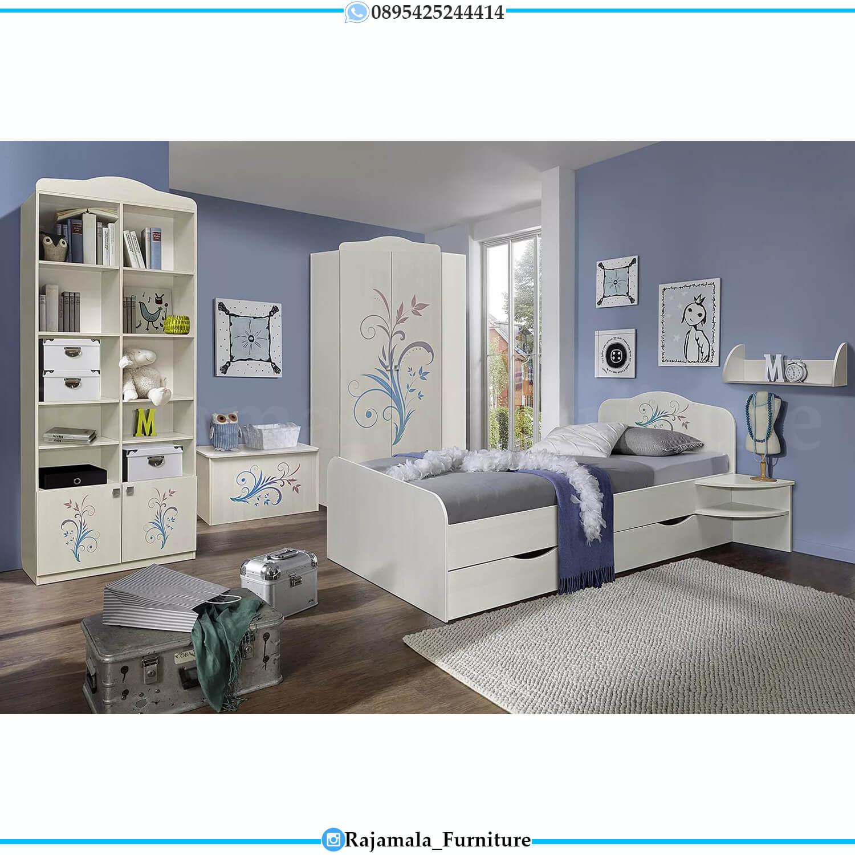 Desain Kamar Set Anak Cantik Minimalis Style Furniture Jepara Terbaru RM-0438