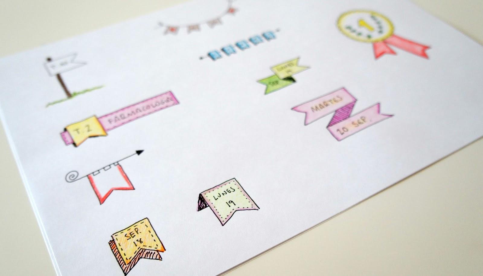 Banner handmade para decorar handbox craft lovers - Como decorar un dibujo ...