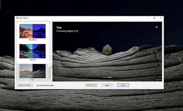 كيف تحصل على Dynamic Wallpaper أفضل خلفيات ديناميكة ويندوز 10 برنامج WinDynamicDesktop