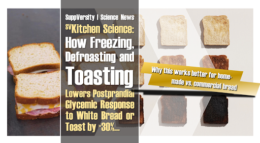Freezing, Defrosting, Toasting, and Your Glucose Response to White Bread | Additives Ruin Part of the 30-37% Benefit