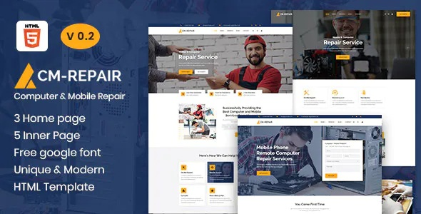 Best Computer and Mobile Repair Store Template