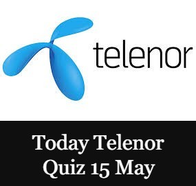 Telenor Quiz Answers Today 15 May