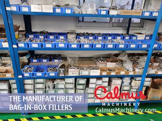 Materials Warehouse of Bag-in-Box Filler Manufacturer - Calmus Machinery