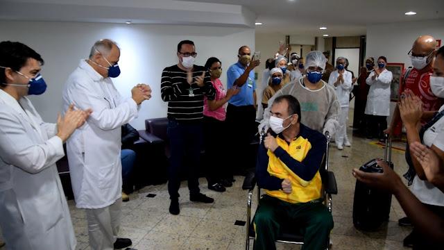Marcelo Correa: alta pela Covia19 Hospital Unimed Petrópolis