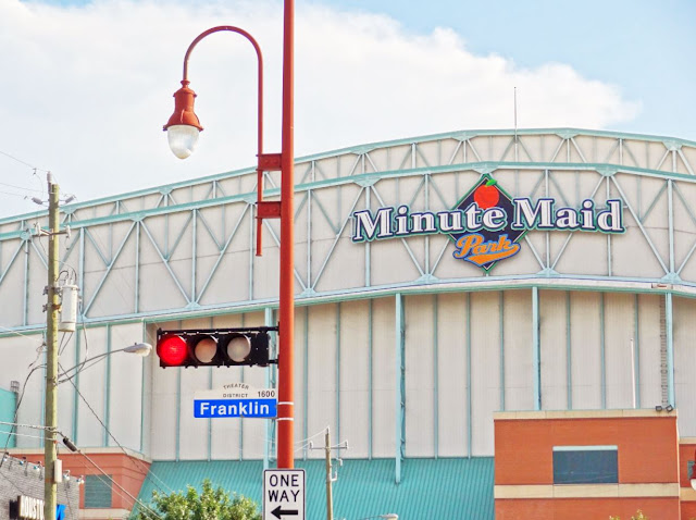 Minute Maid Park seen from Franklin Street