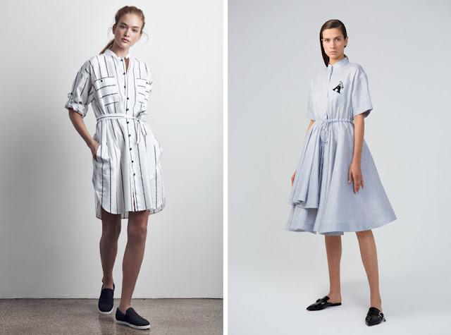 Девушка в платье-рубашке с поясом
