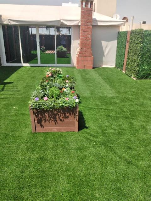 تركيب العشب الأرضي بالجبيل