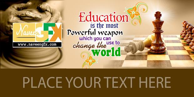 School Flex Banner Design Psd Background Free
