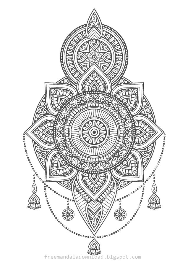 Mandala Malvorlagen e-book free - Free Mandala