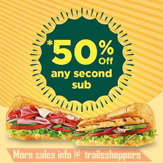 Subway Buy One Get 50% off