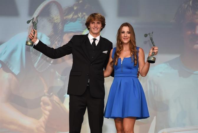 Alexander Zverev and  Belinda Bencic