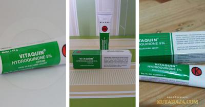 Vitaquin memiliki tekstur yang creamy - Produk Perawatan Kulit Wajah Yang Terdaftar  Di BPOM Dan Dapat Di Temui Di APOTEK Anda