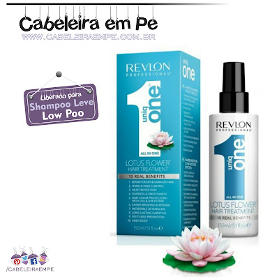 Composição Spray Leave In Uniq One Flor de Lótus - Revlon (Low Poo)