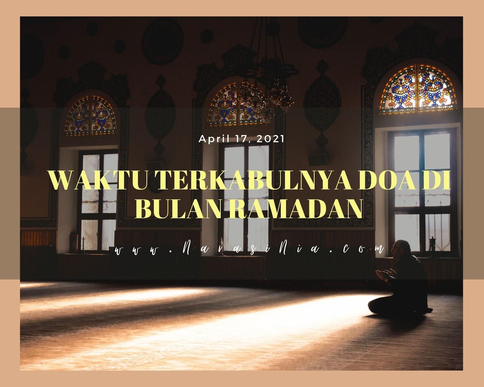 waktu mustajab untuk berdoa