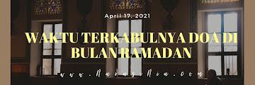 5 Waktu Terkabulnya Doa di Bulan Ramadan
