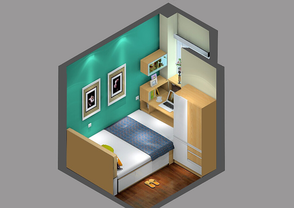 Sky-view-of-study-room-furniture 35 Sky View 4D American House Plan Styles Interior