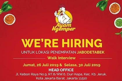 Info Lowongan Kerja Restoran Ayam Ngemper Jabodetabek