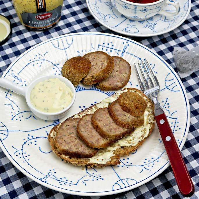 Recept: Limburgse gehaktbal op brood met frisse mosterdmayonaise