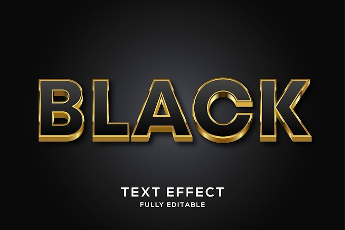 Black Text Effect Ai
