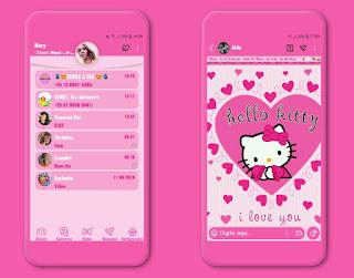 Hello Kitty Theme For YOWhatsApp & Fouad WhatsApp By Mary Silva