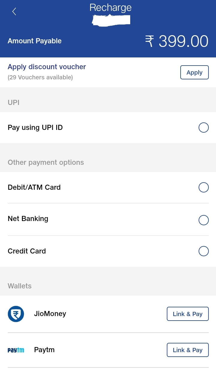 How to get discount of rupees 50/- on each Jio Recharge?