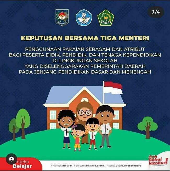 SKB Tiga Menteri tentang Seragam Sekolah