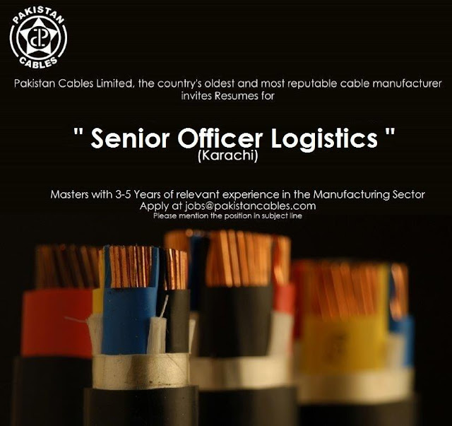 senior 2bofficer 2blogistics 2bmanufacturing 2bjobs 2bin 2b 2bpakistan 2bcables 2bkarachi jpeg
