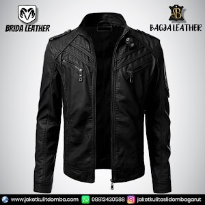Jual Jaket Kulit Asli Garut Pria Domba Original Brida Leather B33   WA 08813430588