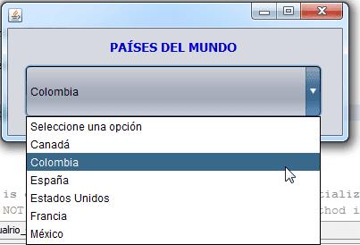 JComboBox con información extraída de una tabla de la Base de Datos.