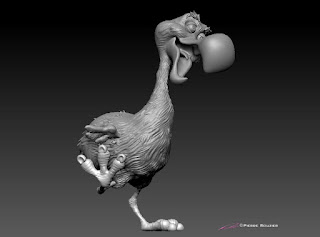Do Do bird - 3D character design & maquette by sculptor©Pierre Rouzier