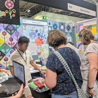 Sewing Party booth at festival of quilts 2019