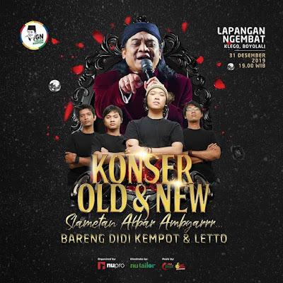 Konser Ambyar Didi Kempot Dan Letto Digelar Akhir Tahun 2019 Di Klego Boyolali