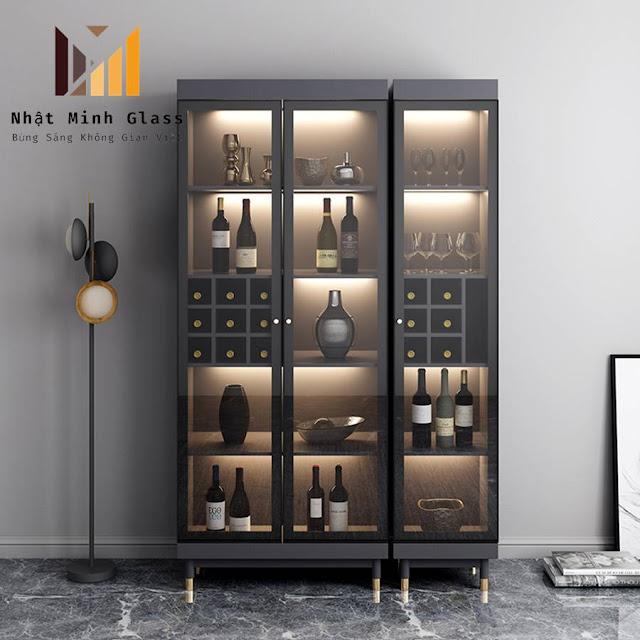 Mẫu Tủ Rượu Nhôm Kính Đẹp