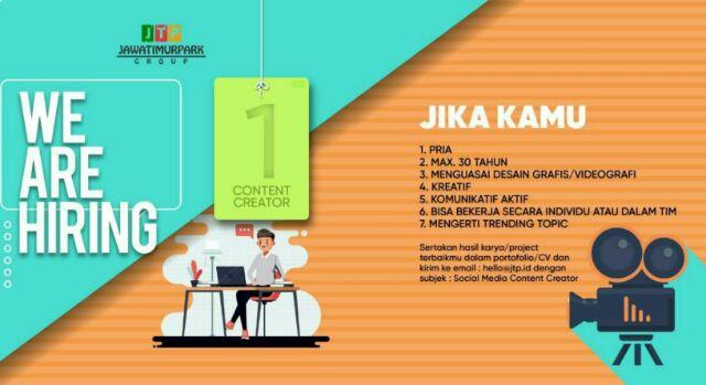 Lowongan Kerja Menjadi Content Creator di Jawa Timur Park