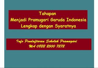 Tahapan Menjadi Pramugari Garuda Indonesia Lengkap dengan Syaratnya