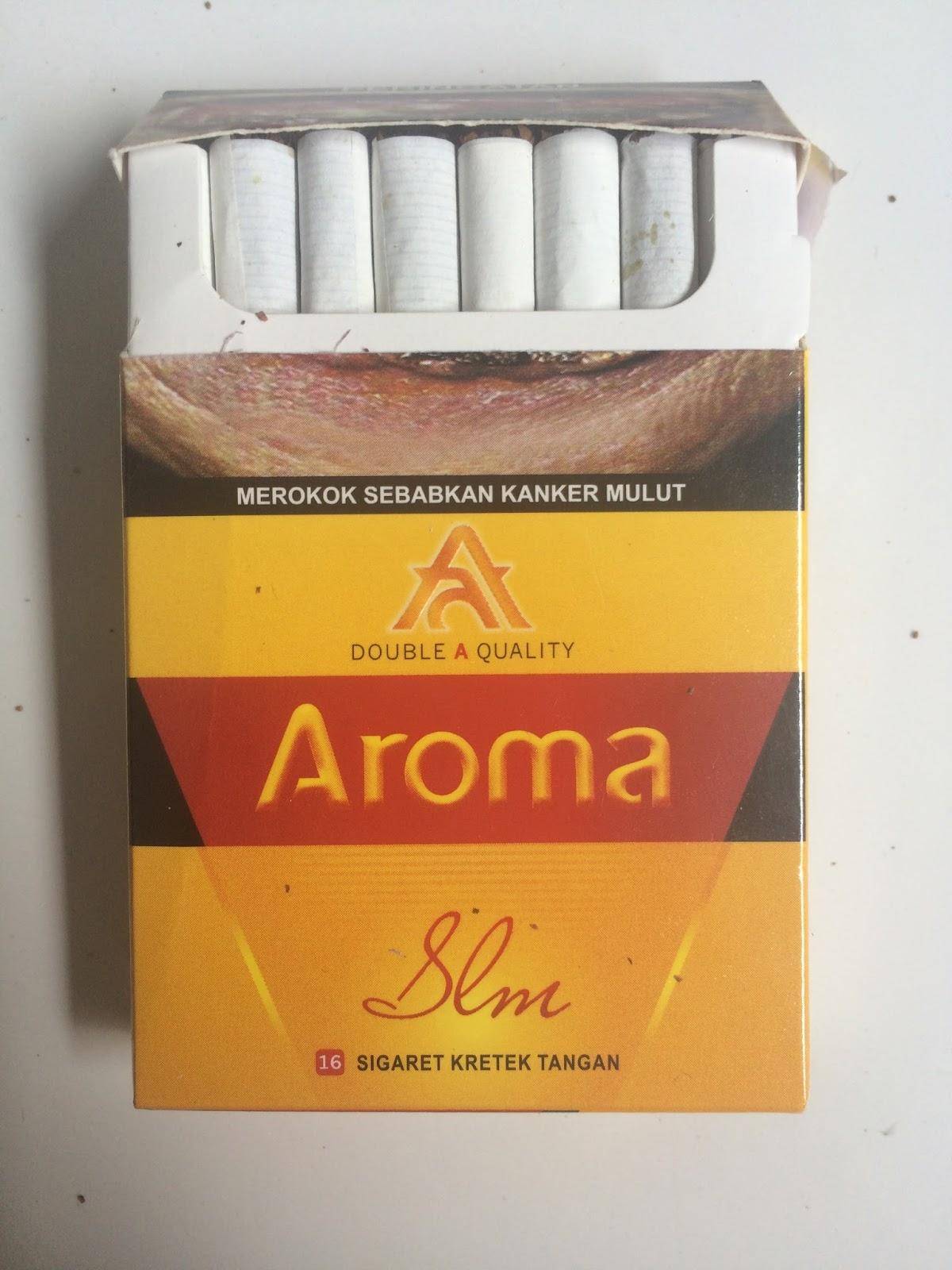 Aroma Slm Slim Rokok Sigaret Kretek Tangan Dengan Diameter Yang Dji Sam Soe Isi 12 1slop Kemasan Ini Menggunakan Model Flip Top Case Solid Layaknya Skt Modern Berbeda Tradisional Masih