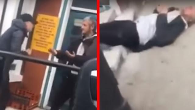 16-Летний Подросток Из Англии Убил Бездомного На Камеру! Видео
