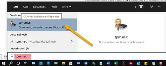 documento console comune di windows