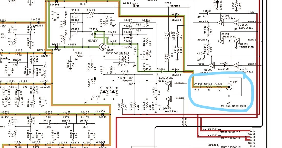 RF tap for panadaptor/second SDR after IC-7300 bandpass filters