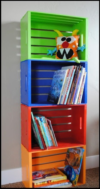 kids bookshelf diy