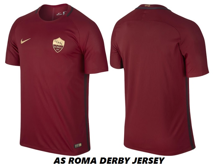 Released  AS Roma 2016-17 Derby Kit d5d0b7b55