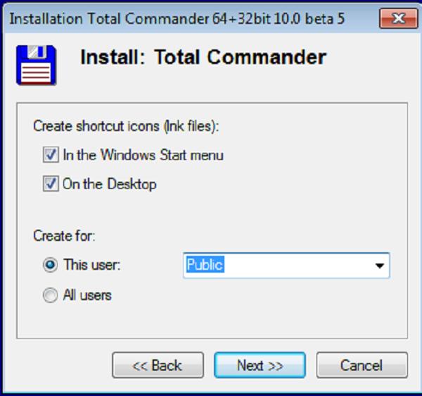 Hướng dẫn cài đặt phần mềm Total Commander 10.0 e