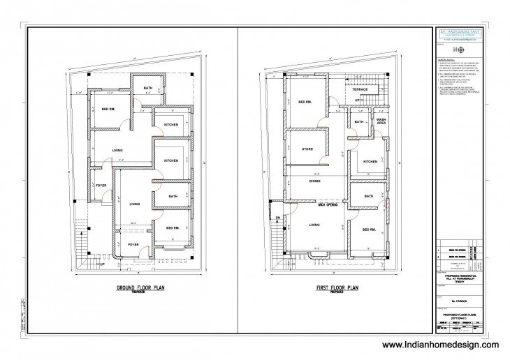 2062 Sq Feet Private Two Floor House Design